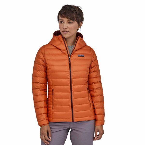 Patagonia Down Sweater Hoody Damen Daunenjacke sunset orange