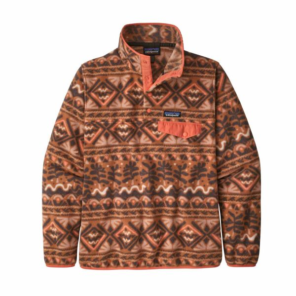 Patagonia W's LW Synch Snap-T P/O Mangrove: Henna Brown