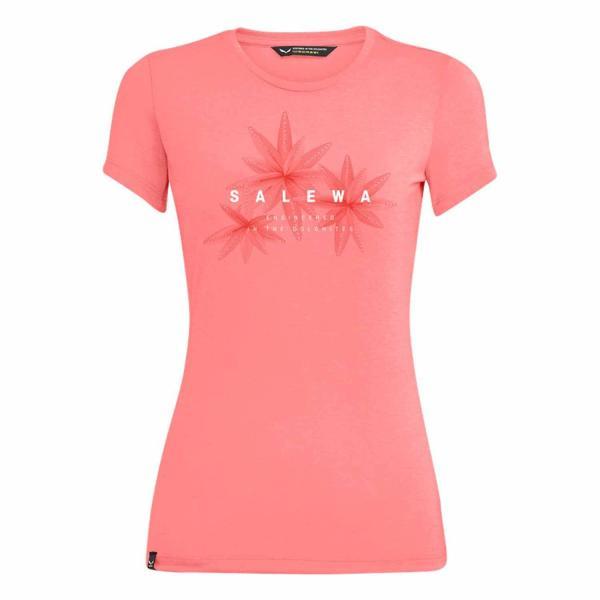Salewa Lines Graphic Dry Damen T-Shirt Shell Pink Melange