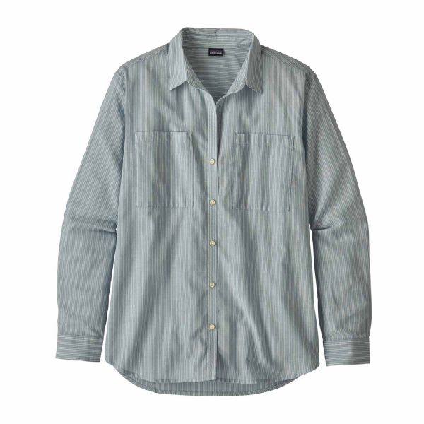 Patagonia W's LW A/C Buttondown Simple Dimple: Berlin Blue