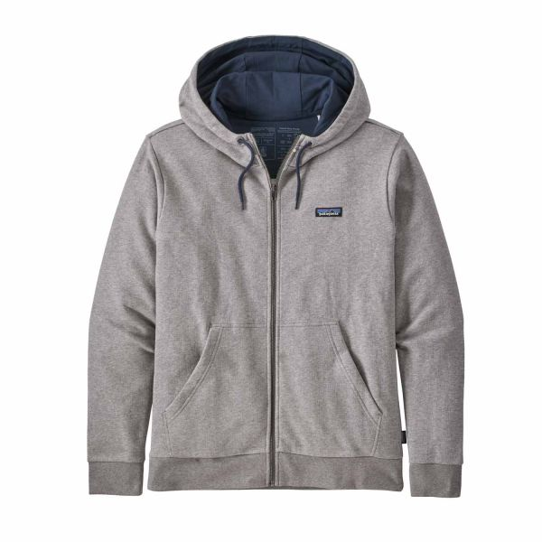 Patagonia M's P-6 Label French Terry Full-Zip Hoody Herren Hoody Feather Grey