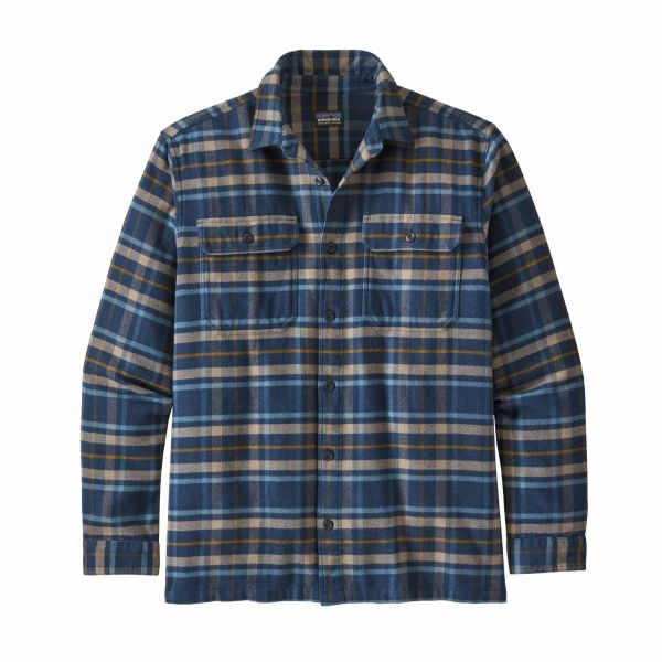 Patagonia M's L/S Fjord Flannel Shirt Independence: New Navy