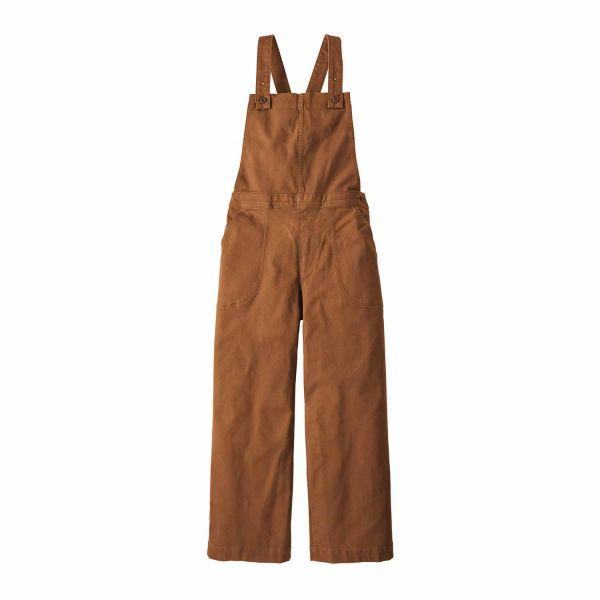 Patagonia W's Stand Up Cropped Overalls Umber Brown