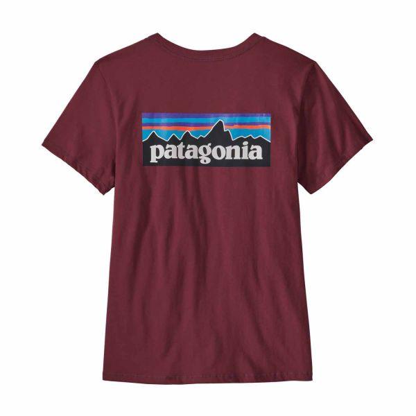 Patagonia W's P-6 Logo Organic Crew T-Shirt Chicory Red