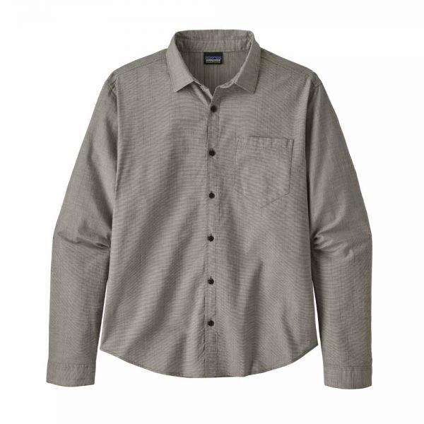 Patagonia M's L/S Organic Cotton Slub Poplin Shirt end on end: forge grey