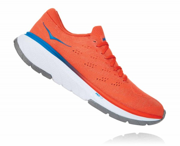Hoka One One Cavu 3 Herren Mandarin Red - White