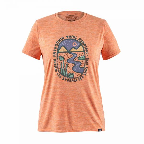 Patagonia W´s Capilene Cool Daily Graphic Shirt dream led peach sherbet x-dye