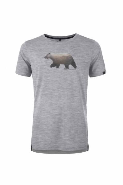 Pally'Hi Grizzland Herren T-Shirt heather grey front