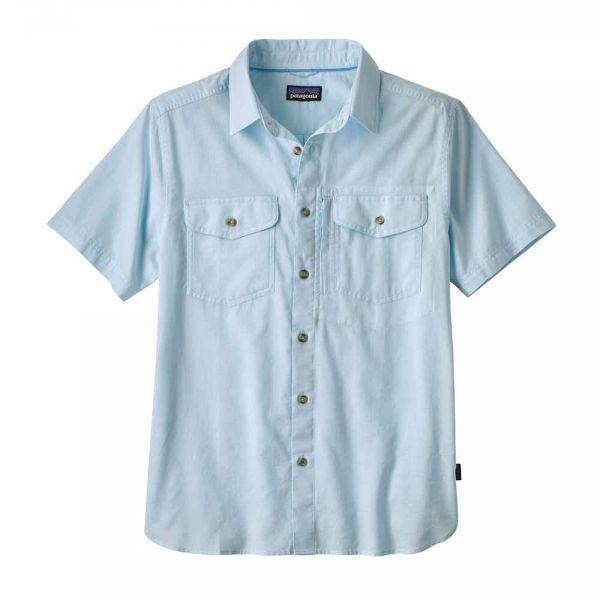 Patagonia M´s Cayo Largo II Shirt Herren Kurzarmhemd chambray break up blue