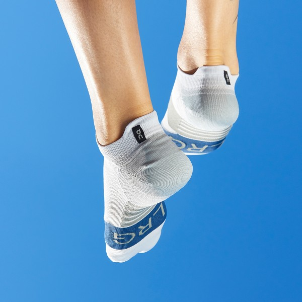 On Low Socks Grey / Denim Herren