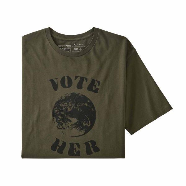 Patagonia M's Vote Her Organic T-Shirt Herren Basin Green