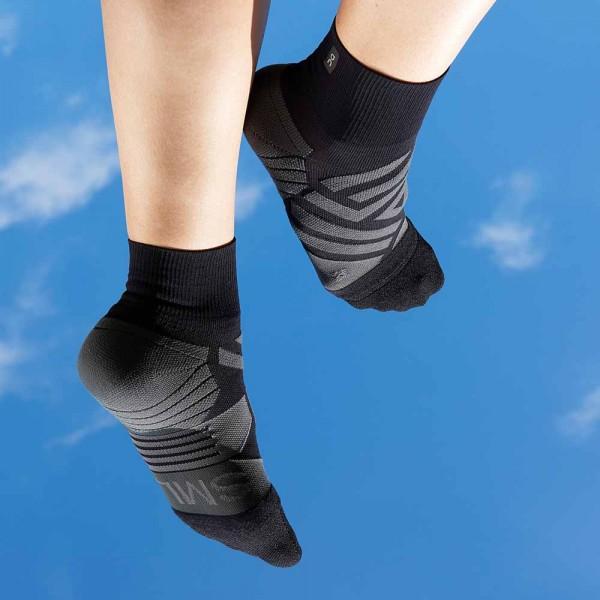 On Mid Socks Black / Shadow Damen