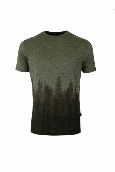 Pally'Hi Men´s T-Shirt Organic Skyline Herren Kurzarmshirt heather moss