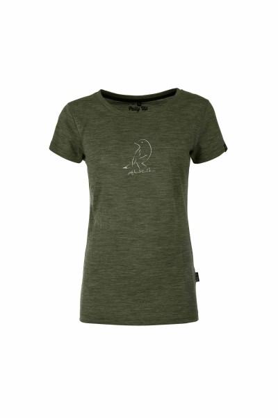 Pally'Hi Bird Shirt Damen T-Shirt heather moss front