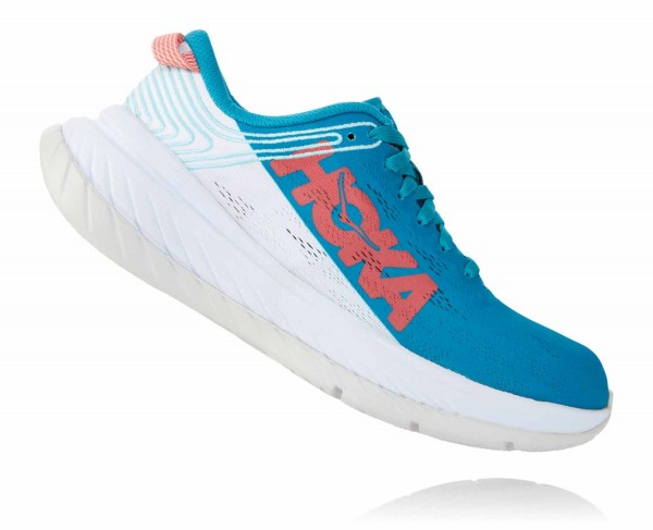 Hoka One One Carbon X Damen Caribbean Sea - White 1