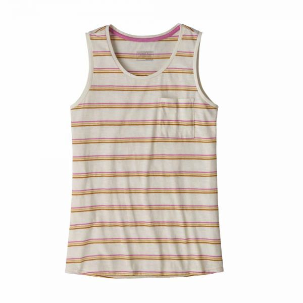 Patagonia W's Mainstay Tank Pacific Stripe: Marble Pink