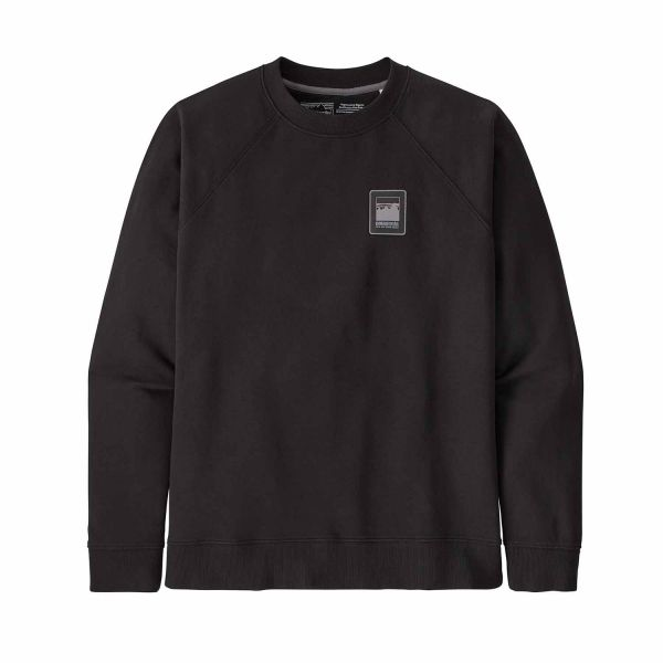 Patagonia Men's Alpine Icon Regenerative Organic Pilot Cotton Crew Sweatshirt Black