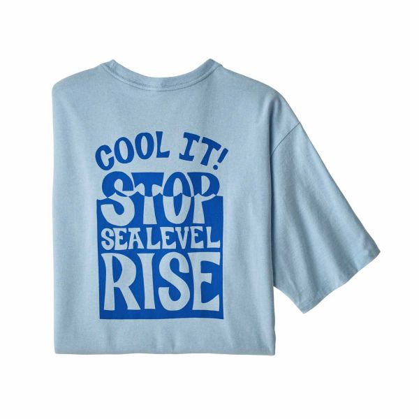 Patagonia M's Stop The Rise Responsibili-Tee fin blue
