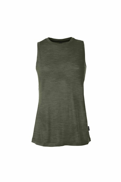 Pally'Hi Tentstitch Damen Tank Robe heather moss front