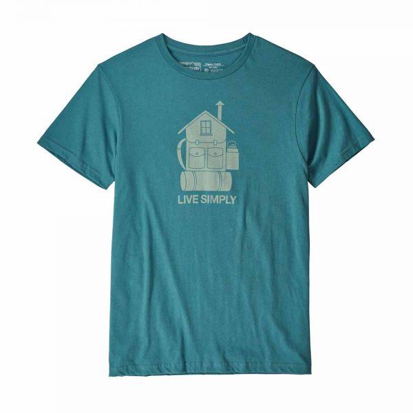 Patagonia M´s Live Simply Home Organic T-Shirt Herren T-Shirt tasmanian teal
