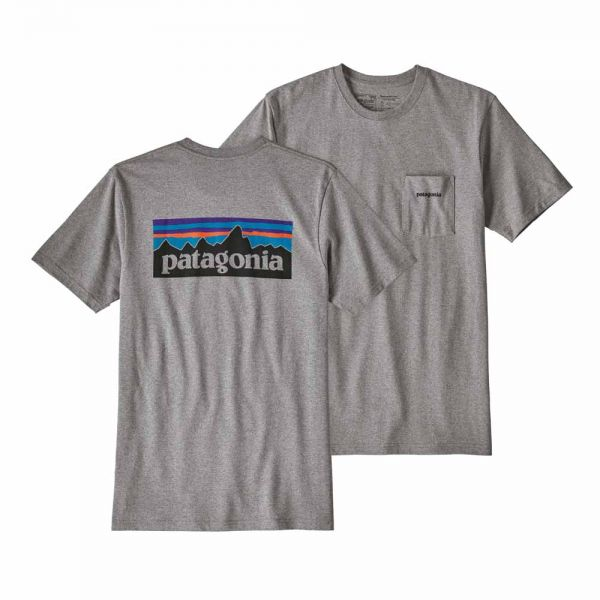 Patagonia M´s P-6 Logo Pocket Responsibili-Tee Männer T-Shirt Gravel Heather