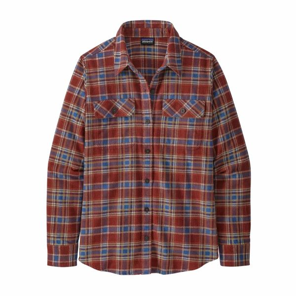 Patagonia Women's Long-Sleeved Organic Cotton Midweight Fjord Flannel Ice Fjord: Fox Red