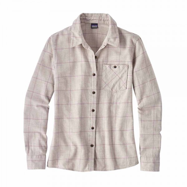 Patagonia W´s Heywood Flannel Shirt Damen Shirt Hemd crafted plaid birch white