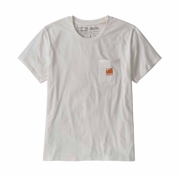 Patagonia Women´s Alpine Icon ROC Cotton T-Shirt White