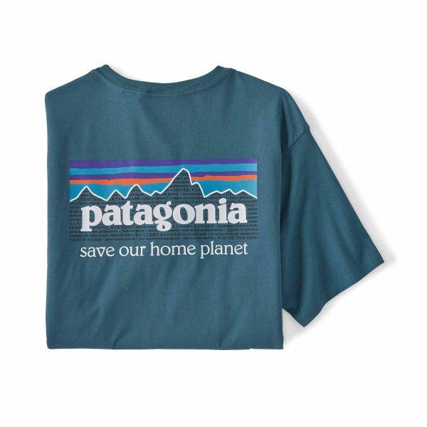 Patagonia Men's P-6 Mission Organic T-Shirt Abalone Blue