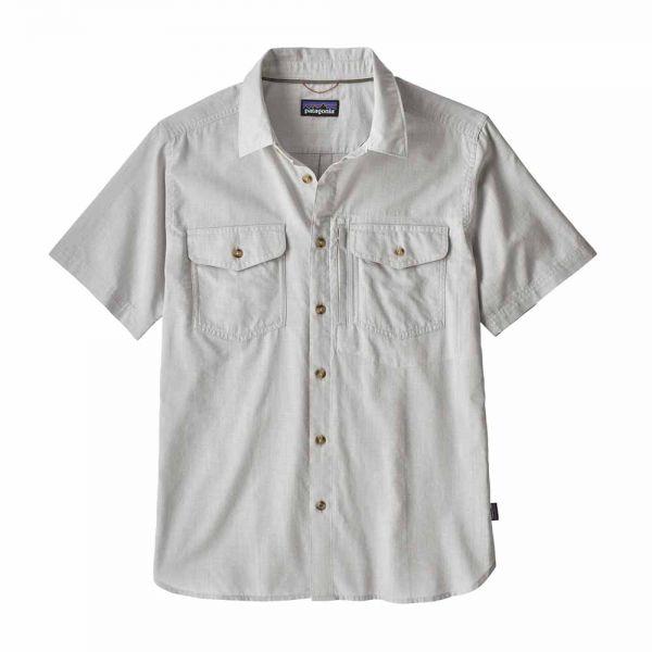 Patagonia M´s Cayo Largo II Shirt Herren Kurzarmhemd chambray feather grey