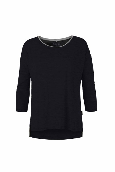 Pally'Hi Necklace Damen 3/4 Longsleeve bluek / heather grey front