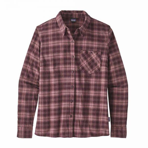 Patagonia W´s Heywood Flannel Shirt Damen Shirt Hemd herder dark currant