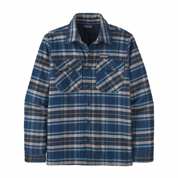Patagonia M's Insulated Fjord Flannel Jacket Independence: New Navy