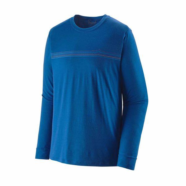 Patagonia Men's Long-Sleeved Capilene® Cool Merino Graphic Shirt Fitz Roy Fader: Alpine Blue