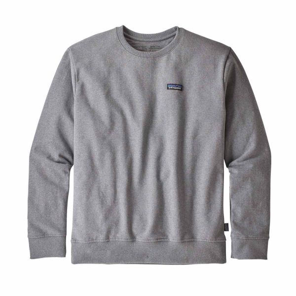 Patagonia M's P-6 Label Uprisal Crew Sweatshirt Herrengravel heather