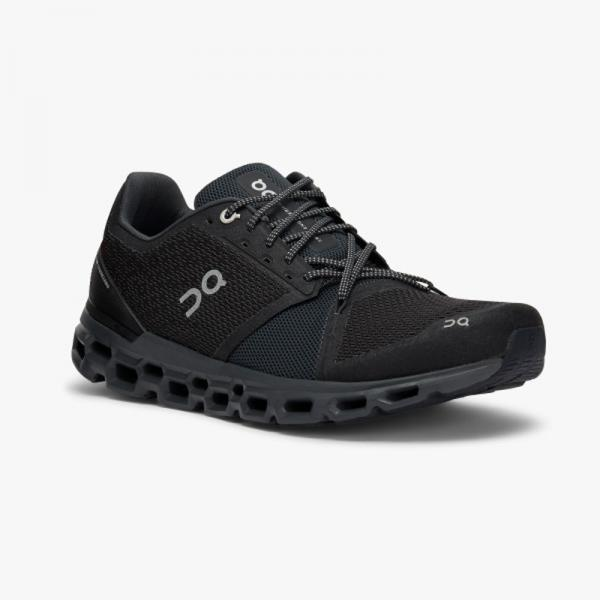 On Cloudstratus Black - Shadow Damen Schuhe