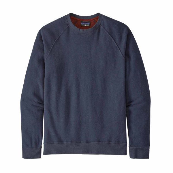 Patagonia M´s Trail Harbor Crewneck New Navy w/ Barn Red