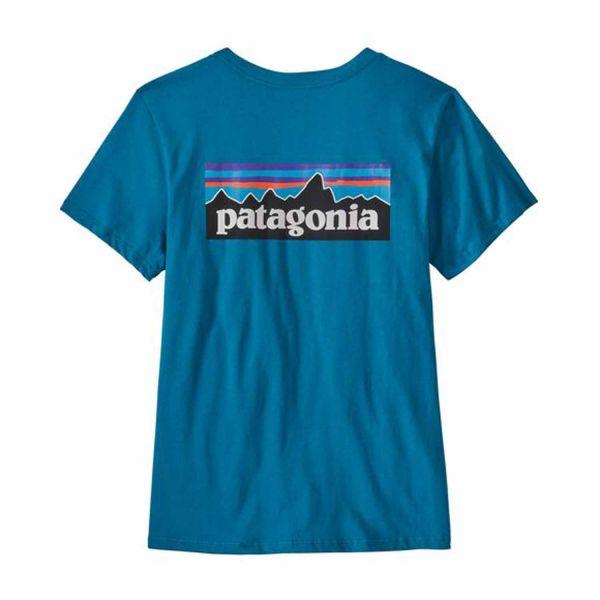 Patagonia W's P-6 Logo Organic Crew T-Shirt Steller blue