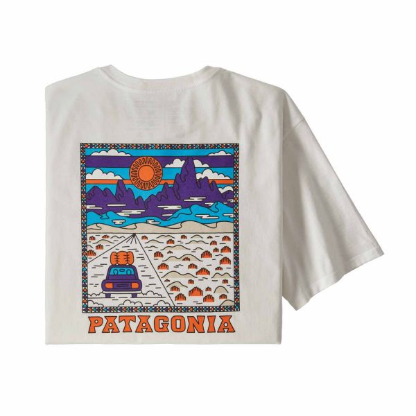 Patagonia M's Summit Road Organic T-Shirt white