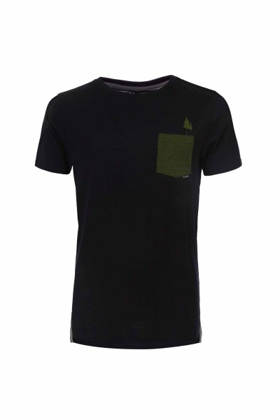 Pally'Hi Pocket Tree Herren T-Shirt bluek