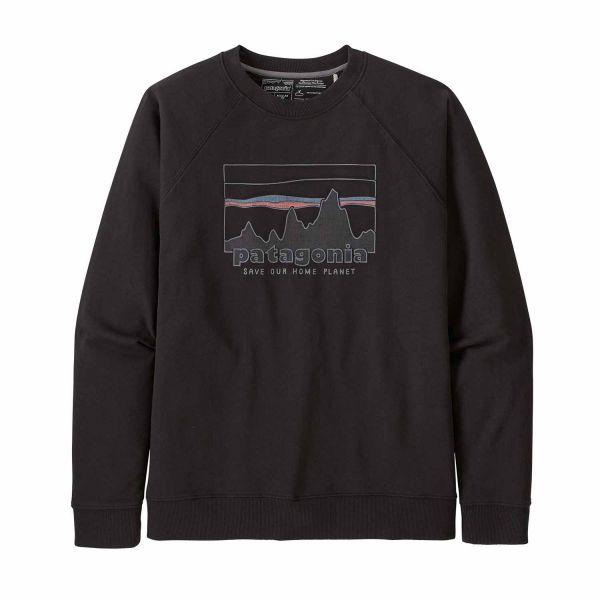 Patagonia Men's '73 Skyline Organic Crew Sweatshirt Black