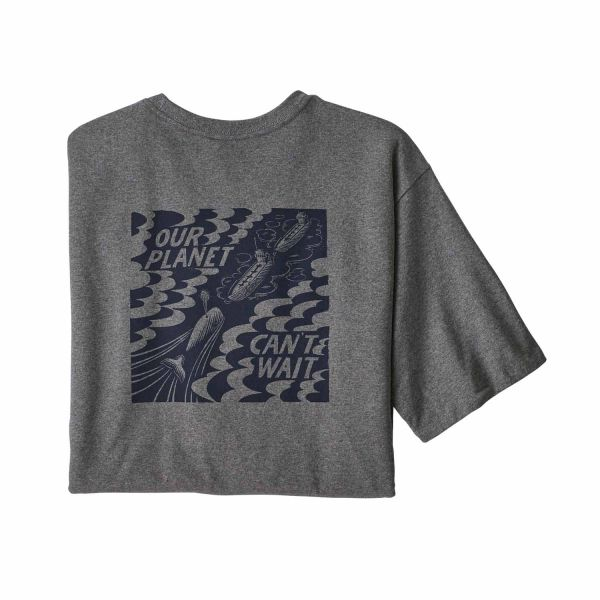 Patagonia M's Our Planet Can't Wait Responsibili-Tee gravel heather