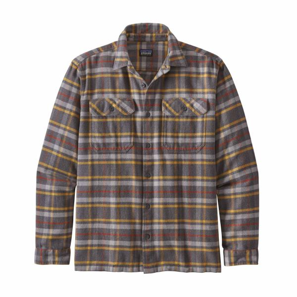 Patagonia M's L/S Fjord Flannel Shirt Independence: Forge Grey