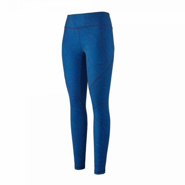 Patagonia W´s Centered Tights Terraced Fields: Bayou Blue