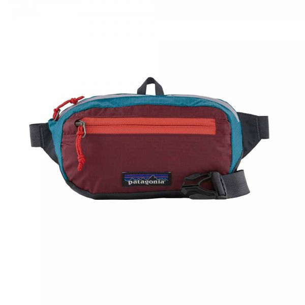 Patagonia Ultralight Black Hole Mini Hip Pack Tasche Patchwork: Roamer Red