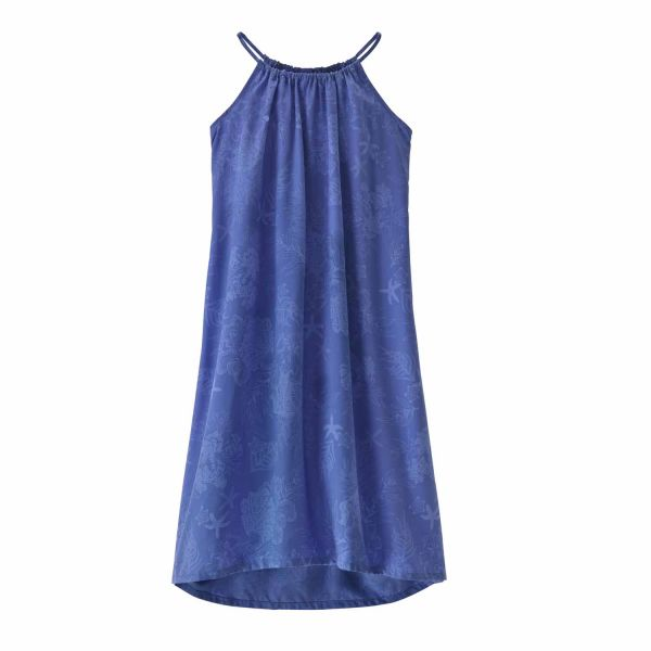 Patagonia W's June Lake Swing Dress Coral Colony: Float Blue