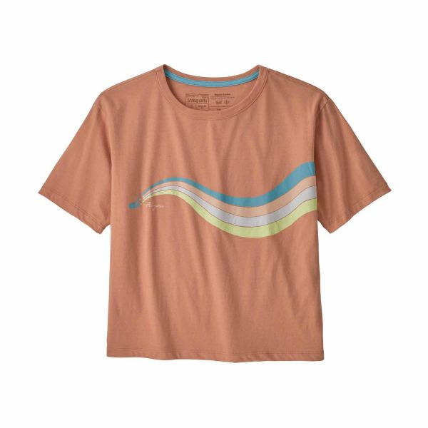 Patagonia W's Psychedelic Slider Organic Easy Cut Tee toasted peach