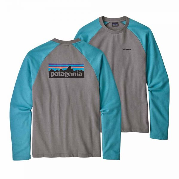 Patagonia M´s P-6 Logo Lightweight Crew Sweatshirt Herren Sweater feather grey w mako blue