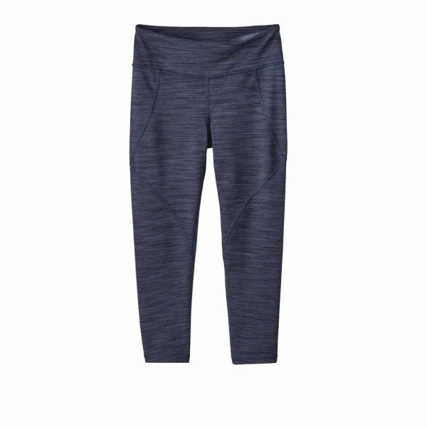 Patagonia W´s Centered Crops Damen Hose Space Dye Dolomite Blue
