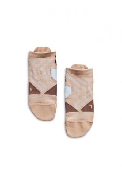 On Low sock Rosebrown - Grey Damen Socken 1